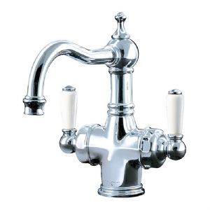 1371 Perrin & Rowe Country Monobloc Dual Lever Basin Mixer Tap with Filtration